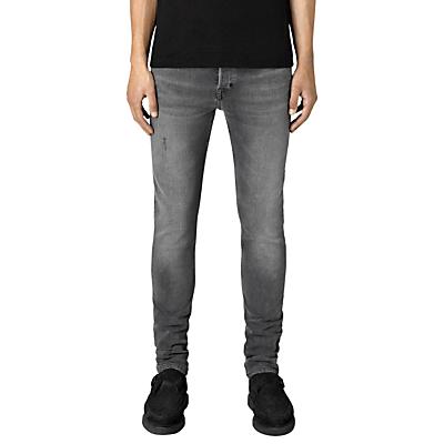 Image of AllSaints Skinny Fit Cigarette Jeans, Black