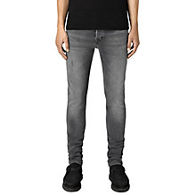 Buy AllSaints Skinny Fit Cigarette Jeans, Black Online at johnlewis.com