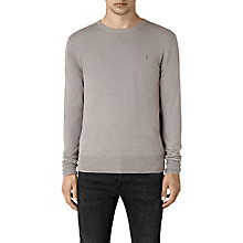 Buy AllSaints Opus Crew Neck Jumper, Steeple Grey Online at johnlewis.com