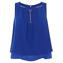 Buy Coast Tobianna Trim Top, Cobalt Online at johnlewis.com
