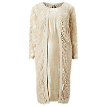 Buy Adrianna Papell Plus Size Shimmer Sheath Dress and Embroidered Lace Coat, Champagne Online at johnlewis.com