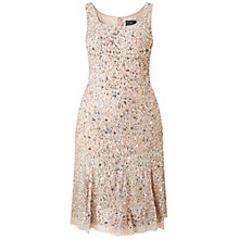 Buy Adrianna Papell Plus Size Sleeveless Beaded Cocktail Dress, Blush/Multi Online at johnlewis.com