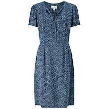 Buy Jigsaw Linear Leaf Tea Dress, Navy Online at johnlewis.com