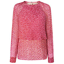 Buy L.K. Bennett Madison Print Top, Multi Online at johnlewis.com