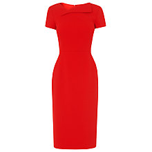 Buy L.K. Bennett Dr Jo Fitted Dress, Red Online at johnlewis.com