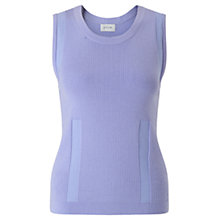 Buy Jigsaw Fine Rib Tank Top, Cool Lilac Online at johnlewis.com
