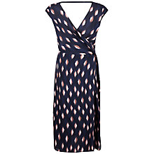 Buy Jaeger Silk Abstract Print Dress, Navy/Red Online at johnlewis.com
