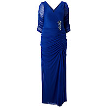 Buy Adrianna Papell Plus Size Drape Covered Gown, Neptune Online at johnlewis.com