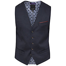 Buy Ted Baker Cabwai Mini Design Waistcoat, Navy Online at johnlewis.com