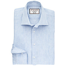 Buy Thomas Pink Perrin Linen Stripe Slim Fit Shirt, Pale Blue/White Online at johnlewis.com