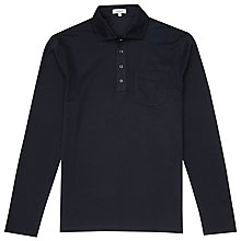 Buy Reiss Santi Pique Cotton Long Sleeve Polo Shirt Online at johnlewis.com