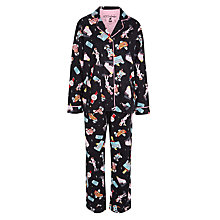 Buy PJ Salvage Diner Flannel Pyjama Set, Black/Multi Online at johnlewis.com