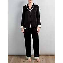 Buy Somerset by Alice Temperley Silk Tuxedo Pyjamas, Black/Ivory Online at johnlewis.com