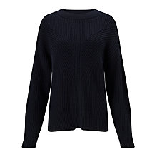 Buy Kin by John Lewis Twisted Rib Jumper, Navy Online at johnlewis.com
