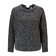 Buy Kin by John Lewis Herringbone Knit Jumper, Grey Online at johnlewis.com