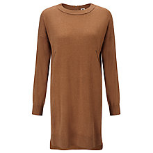 Buy Kin by John Lewis Reverse Seam Knit Tunic, Camel Online at johnlewis.com