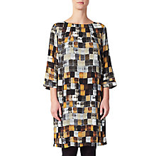 Buy Kin by John Lewis Painted Square Print Dress, Orange Online at johnlewis.com