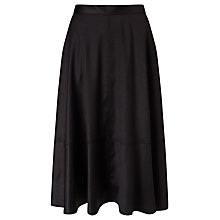 Buy Kin by John Lewis Satin Back Crepe Full Skirt, Black Online at johnlewis.com