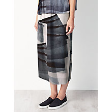 Buy Kin by John Lewis Limited Edition Pleated Print Skirt, Black/White Online at johnlewis.com