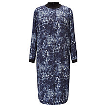 Buy Kin by John Lewis Quartz Print Funnel Neck Dress, Blue Online at johnlewis.com