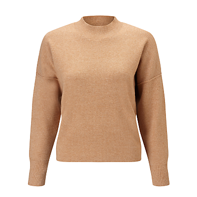 Kin by John Lewis Compact Wool Knit Jumper, Camel