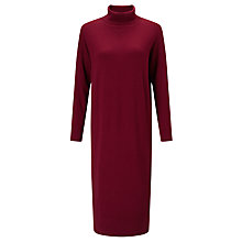 Buy Kin by John Lewis Roll Neck Dress, Burgundy Online at johnlewis.com