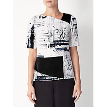 Buy Kin by John Lewis Limited Edition Hand Drawn Printed Top, Black/White Online at johnlewis.com