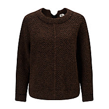 Buy Kin by John Lewis Herringbone Knit Jumper, Black/Mustard Online at johnlewis.com