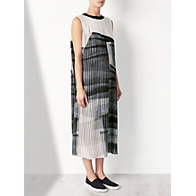 Buy Kin by John Lewis Limited Edition Pleated Print Dress, Black/White Online at johnlewis.com