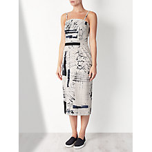 Buy Kin by John Lewis Limited Edition Hand Drawn Strapless Dress, Black/White Online at johnlewis.com