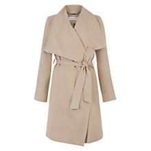 Buy Hobbs Laurie Waterfall Coat, Coffee Online at johnlewis.com