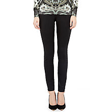 Buy Ted Baker Skinny Wax Oil High Waisted Jeans, Black Online at johnlewis.com