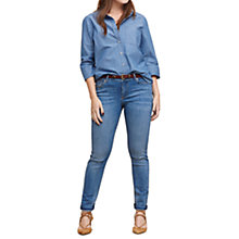 Buy Violeta by Mango Super Slim-Fit Andrea Jeans, Open Blue Online at johnlewis.com