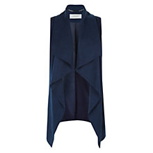 Buy Hobbs Lucy Waterfall Coat, Navy Online at johnlewis.com