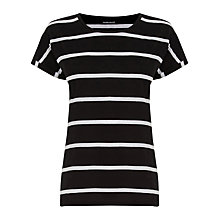 Buy Warehouse Block T-Shirt, Black Stripe Online at johnlewis.com