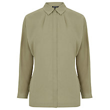 Buy Warehouse Batwing Shirt, Khaki Online at johnlewis.com