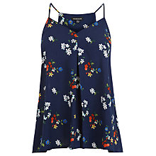 Buy Warehouse Spaced Floral Cami Top, Blue Online at johnlewis.com
