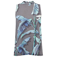 Buy Warehouse Palm Woven Front Top, Multi Online at johnlewis.com