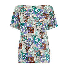 Buy Warehouse 80s Tile Printed T-Shirt, Multi Online at johnlewis.com
