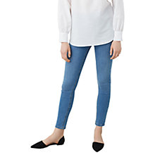 Buy Mango Noa Skinny Fit Jeans, Open Blue Online at johnlewis.com