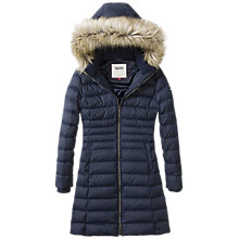 Buy Hilfiger Denim Hooded Down Filled Coat, Navy Blazer Online at johnlewis.com