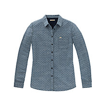 Buy Lee Dobby Spot Shirt, Washed Blue Online at johnlewis.com