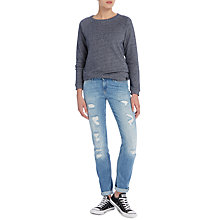 Buy Lee Emlyn Regular Waist Straight Leg Jeans, Blue Trash Online at johnlewis.com