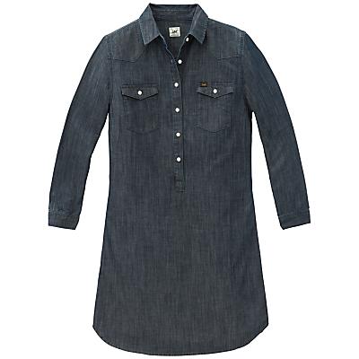 Lee Chambray Shirt Dress, Blue