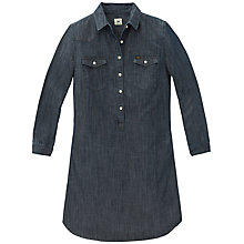 Buy Lee Chambray Shirt Dress, Blue Online at johnlewis.com