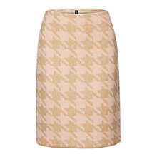 Buy Marc Cain Dogstooth Knitted Skirt, Camel/Pink Online at johnlewis.com