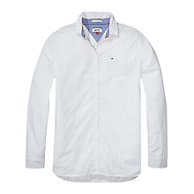 Buy Hilfiger Denim Long Sleeve Stripe Shirt, White/Navy Online at johnlewis.com