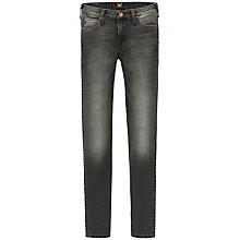 Buy Lee Scarlett Regular Waist Skinny Jeans, Scraped Charcoal Online at johnlewis.com