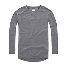 Buy Hilfiger Denim Curve Hem Jumper, Mid Grey Heather Online at johnlewis.com