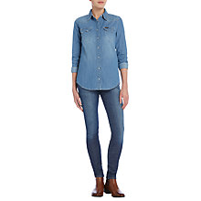 Buy Lee Regular Western Denim Shirt, Fresh Wash Online at johnlewis.com